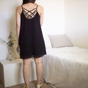 Criss Cross Bead Gem Shift Dress